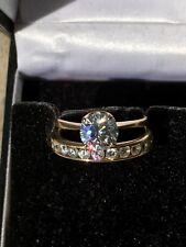 Diamonique SOLITAIRE Ring Zirkonia härteste Qualität Verlobung 585 Gold massiv