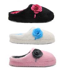 Ladies/Womens Fur/Furry Soft Indoor Mule Slippers Home Shoes Love Sizes 3 to 8