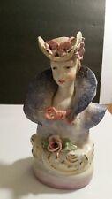 Bavarian Porcelain Half Doll Elegant Lady