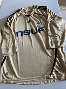 Maillot Football Olympique De Marseille Vintage Foot Shirt 2008-2009 Taille L