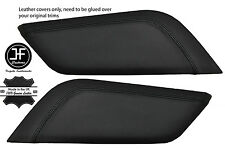 BLACK STITCH 2X CENTRE CONSOLE KNEE PADS LEATHER COVERS FITS FORD MUSTANG 15-17