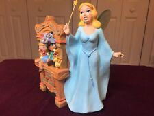 Rare 7 1/2 Inch Tall Blue Fairy Pinocchio Disney Classic Ceramic Figurine Nice!