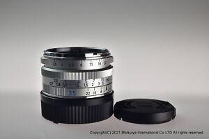 ** MINT ** Carl Zeiss C Biogon T * 35mm f/2.8 ZM Silver