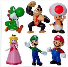 2017- Lot 6 Super Mario bros mini figures Figurine Toy Doll