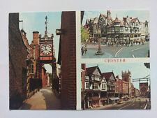 Chester Vintage colour Postcard c1970s multi view