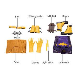 HZYM Game Batman Gotham Knights Batgirl Cosplay Costume Leather Halloween