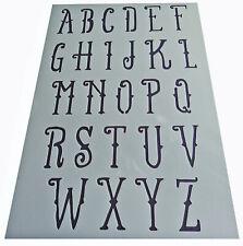 Letters lettering (44-47mm font) Alphabet plastic stencil vintage shabby chic x1