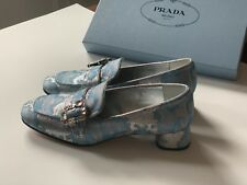 PRADA Low Heel LOAFER - New - Azure - Size 6.5