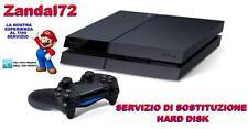 SERVIZIO DI SOSTITUZIONE HARD DISK SSD SONY PLAYSTATION 4 PS4 CON GARANZIA