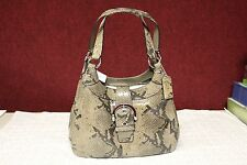 COACH F17419 BLACK/GRAY SOHO SNAKE HOBO W/TAG 12W 8H 4.5D- MAKE OFFERS!!