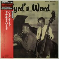 Donald Byrd Byrd's Word Savoy Records KIJJ-2002 OBI JAPAN VINYL LP JAZZ