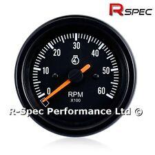 85 mm Negro Rev Contador Tacómetro RPM Tacho cara calibre-Diesel Turbo TDI TD PD