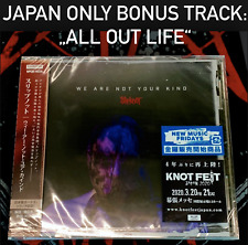 """JAPAN ONLY BONUS TRACK """"ALL OUT LIFE""""! SLIPKNOT WE ARE NOT YOUR KIND CD 2019"""
