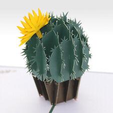 Handmade 3D Cactus Pop Up Birthday Card UK Seller