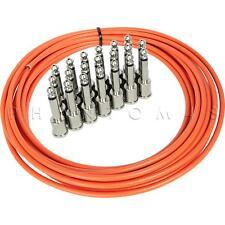 George L's Mega Pedalboard Cable Kit 20' .155 Orange 20ft & 20 Nickel Plugs