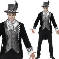 Deluxe Men's Dark Hatter Costume Halloween Adults Fancy Dress Suit Smiffys 44393 M - Medium