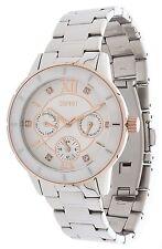 Esprit Damen Armbanduhr Romance Glints Ceramic Silver Rose Gold Silver ES9007320