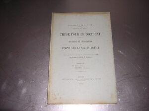 1904.histoire impot sur sel en France.gabelle./ Kermoal