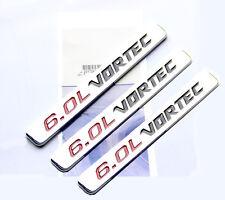 3x OEM Chrome 6.0L VORTEC HOOD emblem Badge decal Silverado Chevy 1500 2500 HD W