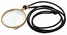 Steampunk Victorian Clear Costume Monocle Eyepiece with Gold Rim Elope New
