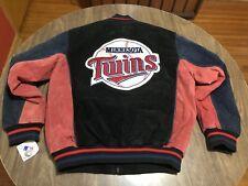Minnesota Twins Leather Shell Medium Jacket MLB Baseball Genuine With Tag