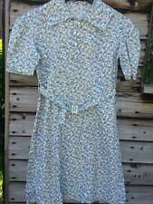 Sweet Vintage Original 1940s liberty print floral cotton day dress