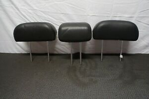 2005-2010 KIA SPORTAGE OEM REAR BACK SEAT HEAD REST HEADRESTS BLACK LEATHER SET
