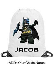 Boy Lego Batman Personalised Gym Sack Bag Swimming PE Dance School Gift Name