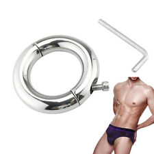 【USA】Lockable-Stainless-Steel-Penis-Stretcher-Metal-Ball-Enhancer-Weight