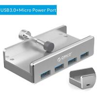 ORICO MH4PU-P Metal Back Clip USB3.0 Four Ports HUB for Android Power Port