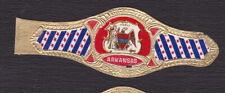 Ancienne Bague de Cigare Vitola  BN122895 Ecusson Etats Unis Arkansas