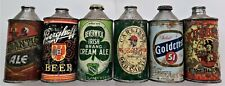 Vintage Lot Six Dif Brewing High Low J Profile Irtp Cone Top Beer Cap Sealed Can