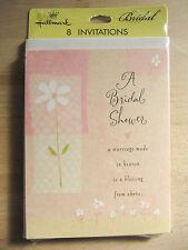 NEW Hallmark Wedding A Bridal Shower Flower 8 Invitations U0026 Envelopes