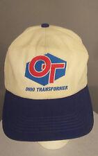 Vintage OHIO TRANSFORMER Embroidered Snapback Trucker OT Lineman Hat Cap USA