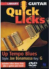Lick Library: Guitar Quick Licks - Up Tempo Blues Joe Bonamassa  (2012, DVD NEW)