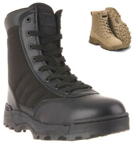 Mens Tactical Army Combat Military Boots Size 6 to 11 UK SECURITY WORK POLICE