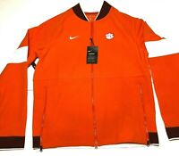 Nike Men's Dri Fit Clemson Tigers Therma Full Zip Jacket Size Medium Bomber