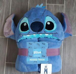 Disney Lilo & STITCH Hooded Throw Fleece Blanket Poncho with 3D Ears BNWT
