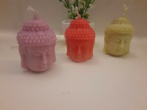 2 for 1 Buddha Head Candles