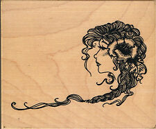 ART NOUVEAU PROFILE - INCA STAMPS ART NOUVEAU PROFILE WOOD MOUNTED RUBBER STAMP