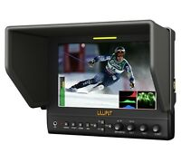 """Lilliput 7"""" 663/O/P2 IPS Peaking Focus HDMI InOut waveform F970 Battery+suitcase"""