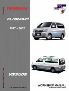 Nissan Elgrand E50 VQ35DE 1997-2002 Workshop Manual
