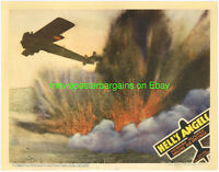 HELL'S ANGELS LOBBY CARD size 11x14 MOVIE POSTER Card#1 R1937 WWI FIGHTER PLANES
