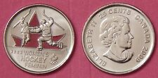 Brilliant Uncirculated 2009 Canada Women's Hockey Color 25 Cents