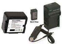 Battery + Charger for Panasonic HDC-SD5PP HDC-TM10
