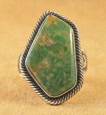 Terry Martinez Sterling S Ingot Handmade Navajo Ring Kings Manassa Turquoise