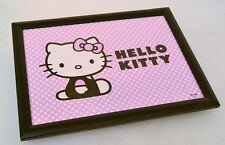 NEW HELLO KITTY POLKADOT BEANBAG PADDED CUSHIONED LAP TRAY OVER BED SERVING TRAY