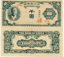 South Korea 1000 Won 1950 ~P-8 ~ Syngman Rhee { 528 } Nice About Uncirculated