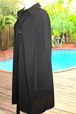 Elegant Chloe Blk Coat Dress Super~X-Long Neck Ties To The Hemline L 12-14  FR44