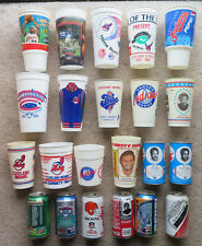 Huge lot Cleveland Indians Browns Cavaliers cans cups Lebron James Icee RC MORE